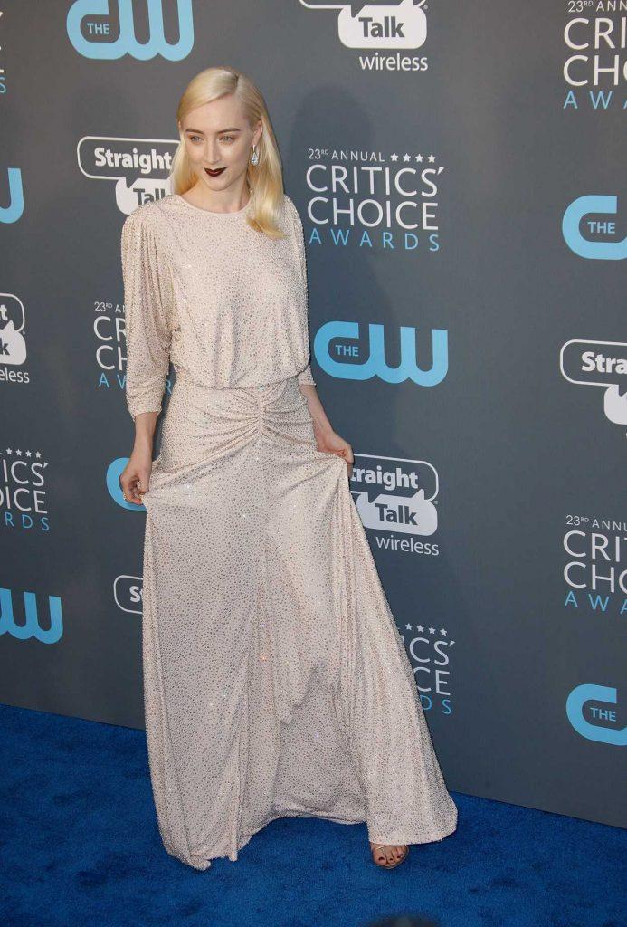Saoirse Ronan at the 23rd Annual Critics' Choice Awards in Santa Monica 01/11/2018-3