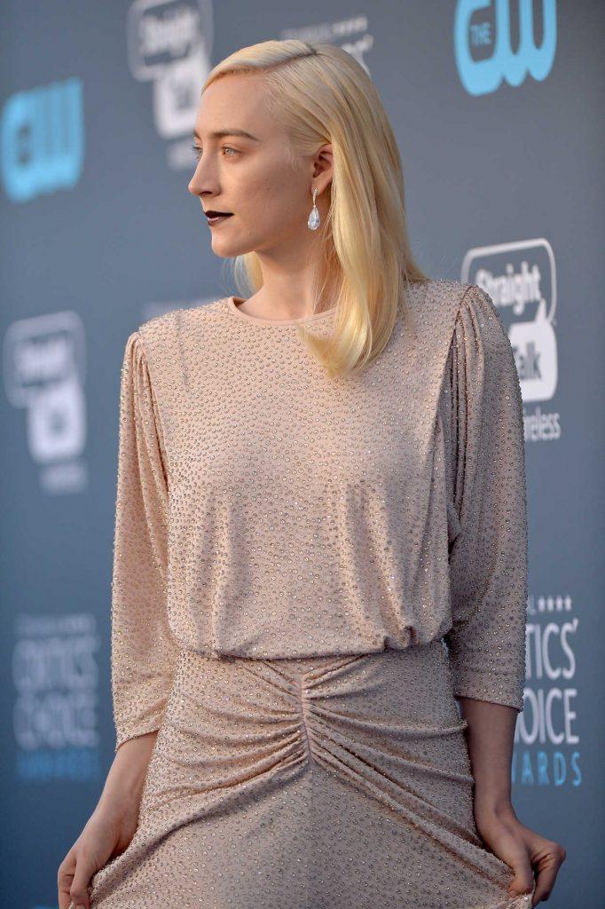 Saoirse Ronan at the 23rd Annual Critics' Choice Awards in Santa Monica 01/11/2018-4