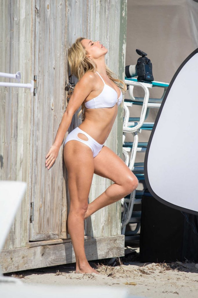 Sylvie Meis Does a Bikini Photo Shoot at the Beach in Miami 01/04/2018-2