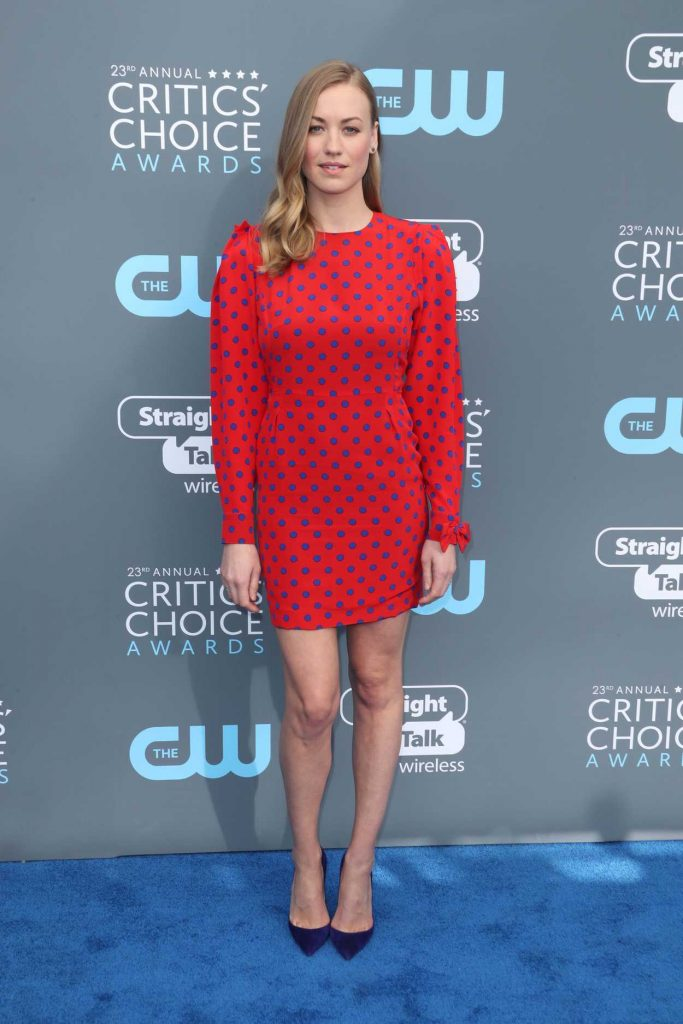 Yvonne Strahovski  at the 23rd Annual Critics' Choice Awards in Santa Monica 01/11/2018-1