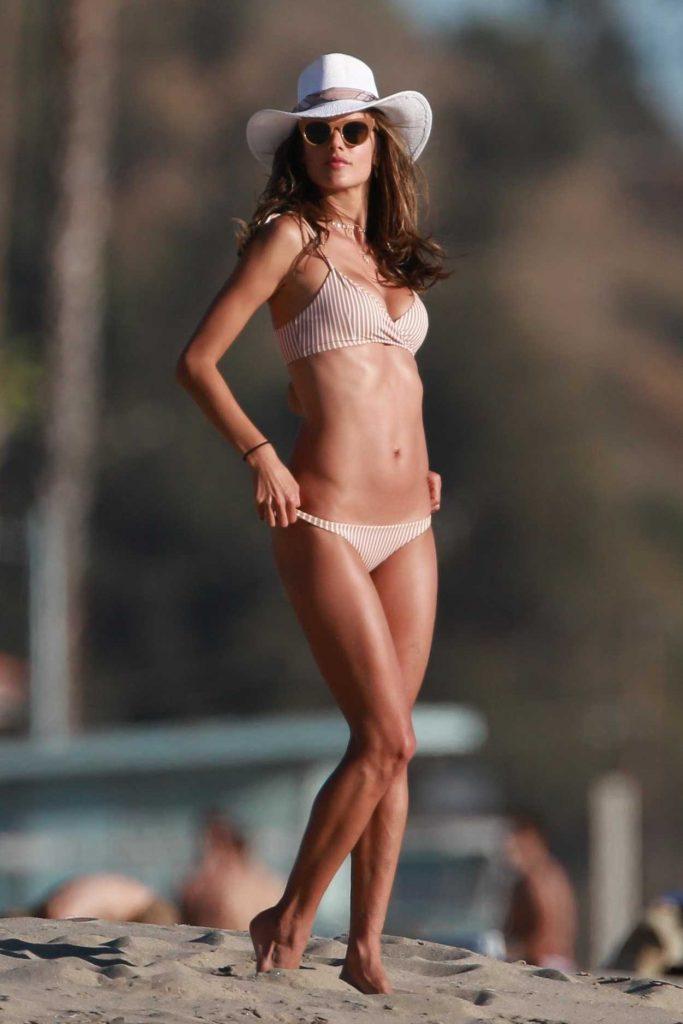 Alessandra Ambrosio in Bikini at the Beach in Malibu 01/28/2018-1