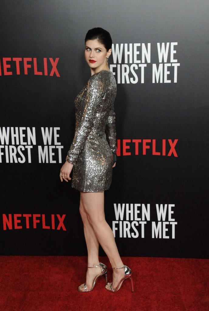 Alexandra Daddario at When We First Met Screening in Los Angeles 02/20/2018-2