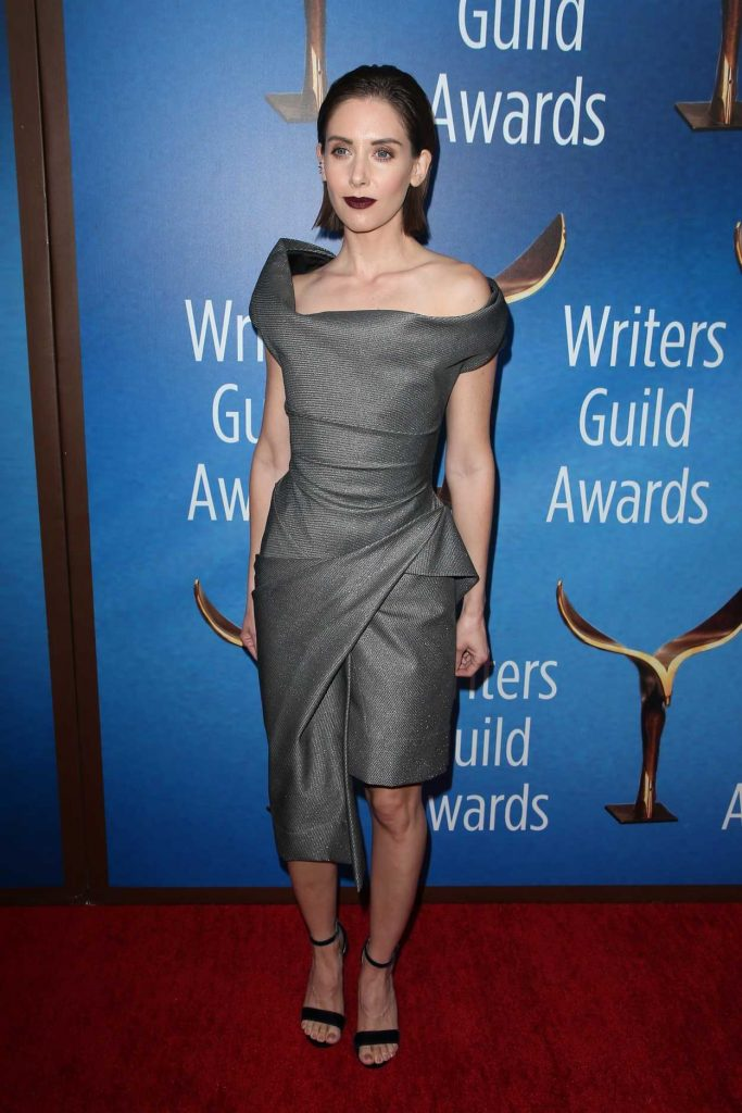 Alison Brie at 2018 Writers Guild Awards LA Ceremony in Beverly Hills 02/11/2018-3