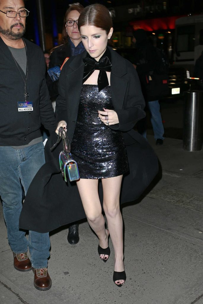 Anna Kendrick Arrives at the Elton John Tribute Concert at Madison Square Garden in NYC 01/30/2018-3