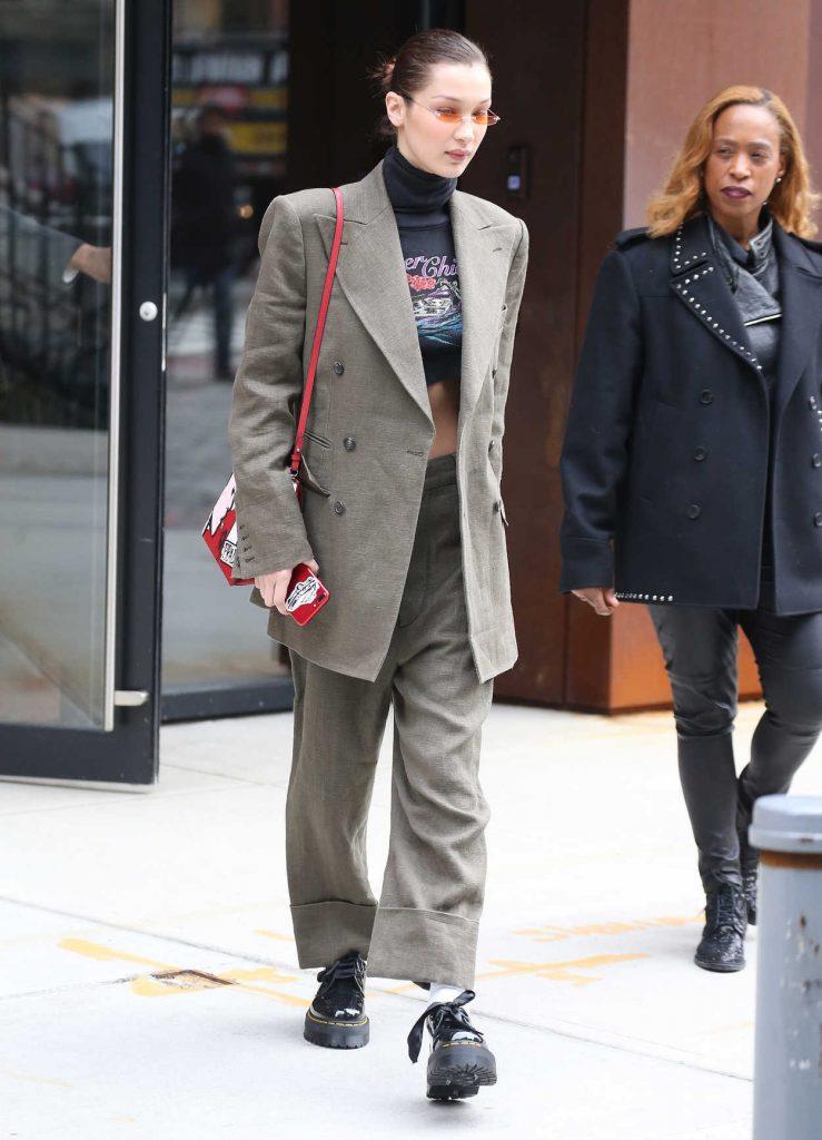 Bella Hadid Arrives at Spring Studios in New York 02/09/2018-3