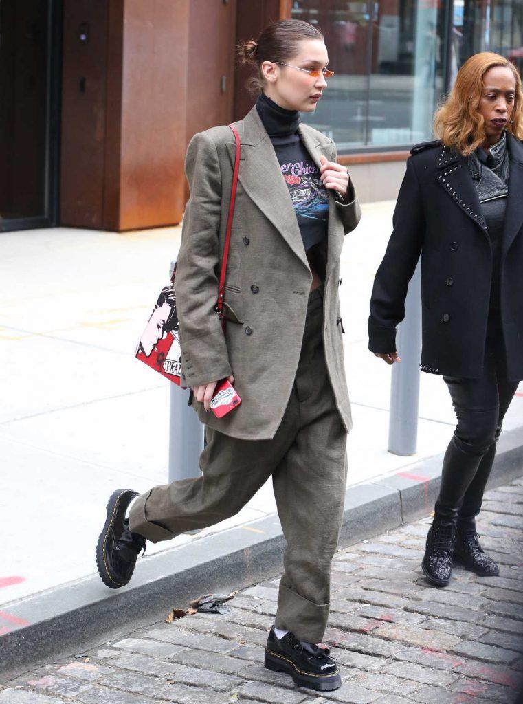 Bella Hadid Arrives at Spring Studios in New York 02/09/2018-5