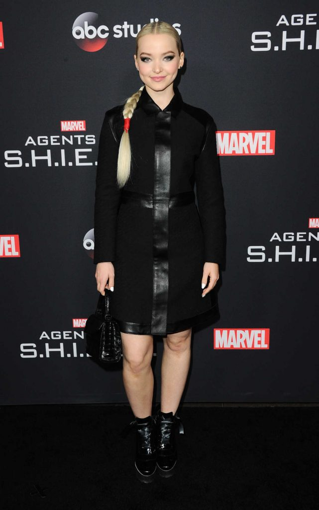 Dove Cameron at the 100th Episode Celebration of Marvel's Agents of S.H.I.E.L.D. in Hollywood 02/24/2018-1