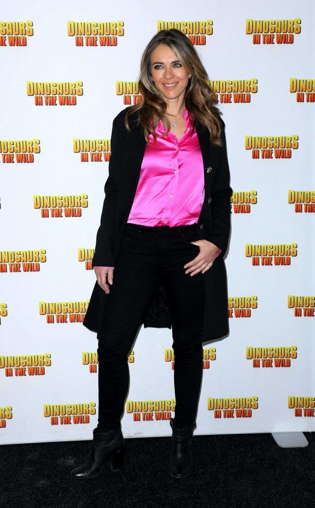 Elizabeth Hurley at Dinosaurs in the Wild in London 02/13/2018-1