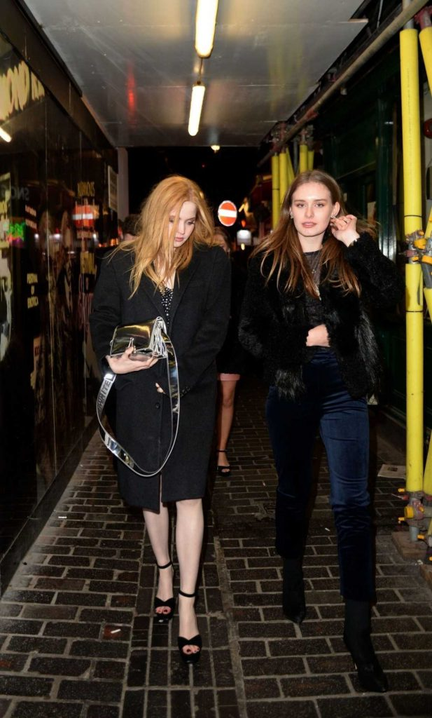 Ellie Bamber Arrives at Box Night Club in London 02/03/2018-4