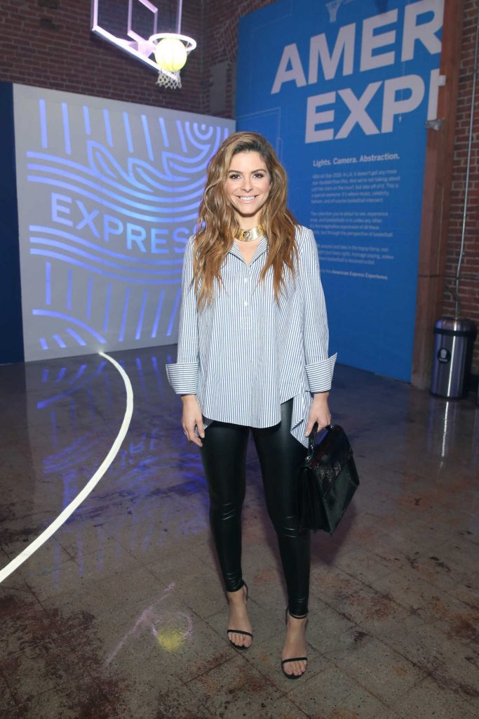 Maria Menounos at the American Express Fan Experience at NBA All-Star Weekend in Los Angeles 02/15/2018-1