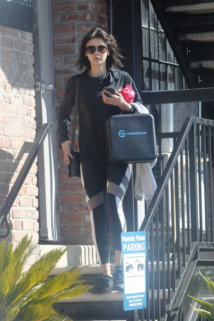 Nina Dobrev Leaves the Gym in Los Angeles 02/26/2018-3