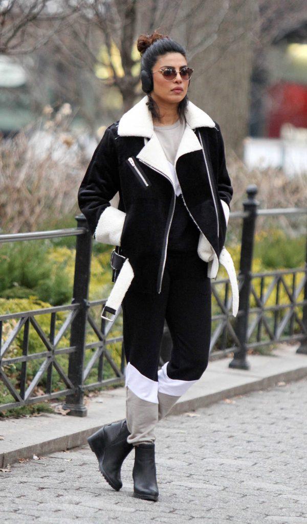 Priyanka Chopra on the Set of Quantico in Central Park in NY 02/01/2018-1