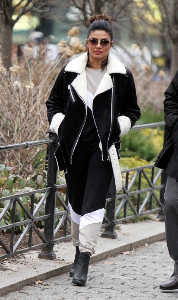 Priyanka Chopra on the Set of Quantico in Central Park in NY 02/01/2018-3