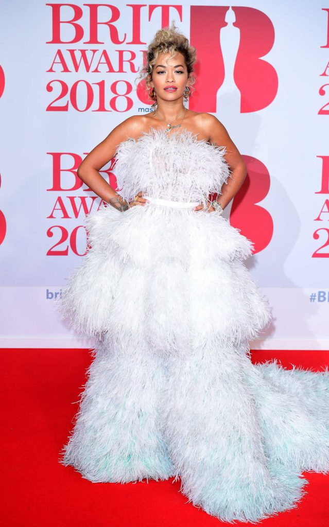 Rita Ora Attends the 2018 Brit Awards at the O2 Arena in London 02/21/2018-1