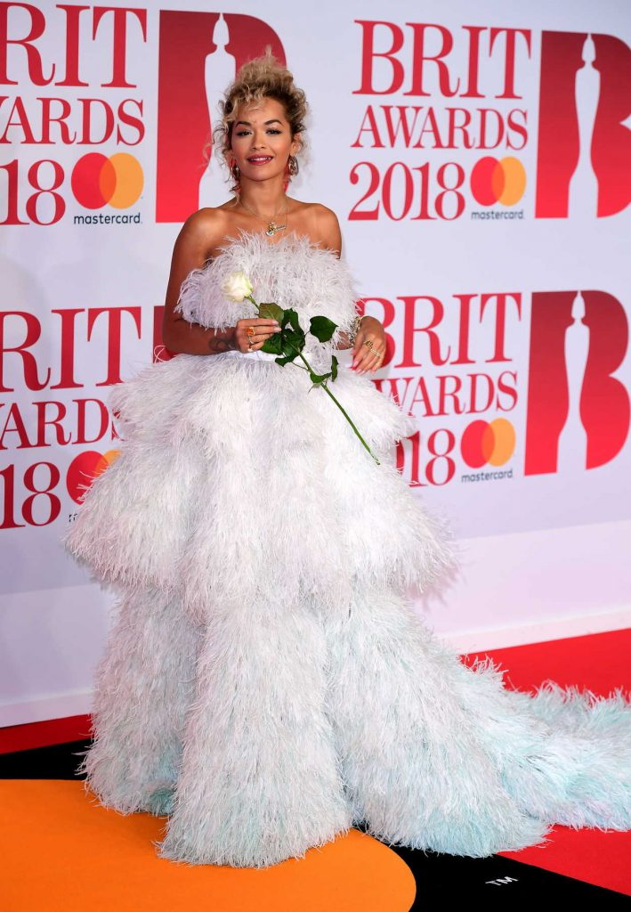 Rita Ora Attends the 2018 Brit Awards at the O2 Arena in London 02/21/2018-2