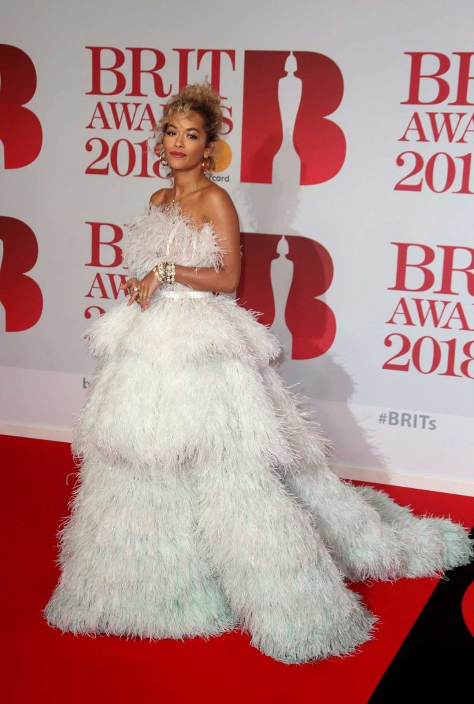 Rita Ora Attends the 2018 Brit Awards at the O2 Arena in London 02/21/2018-3
