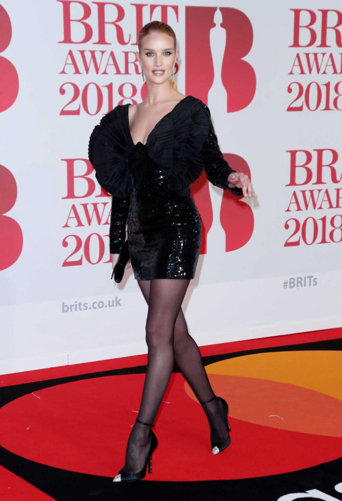 Rosie Huntington-Whiteley Attends the 2018 Brit Awards at the O2 Arena in London 02/21/2018-2
