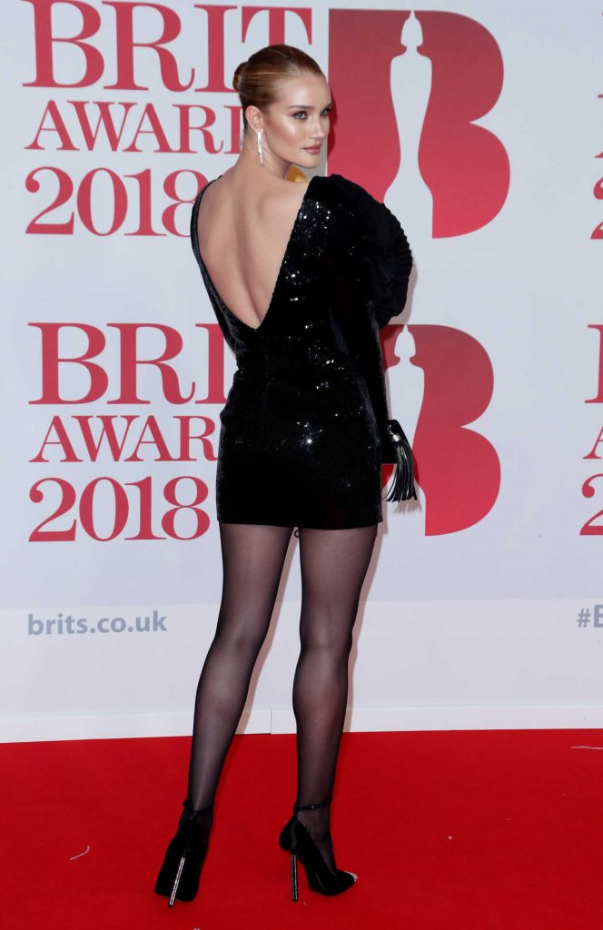 Rosie Huntington-Whiteley Attends the 2018 Brit Awards at the O2 Arena in London 02/21/2018-3