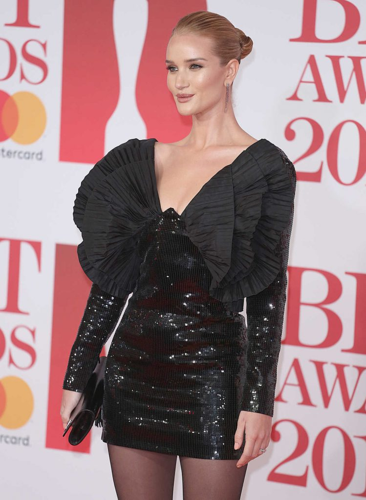 Rosie Huntington-Whiteley Attends the 2018 Brit Awards at the O2 Arena in London 02/21/2018-4