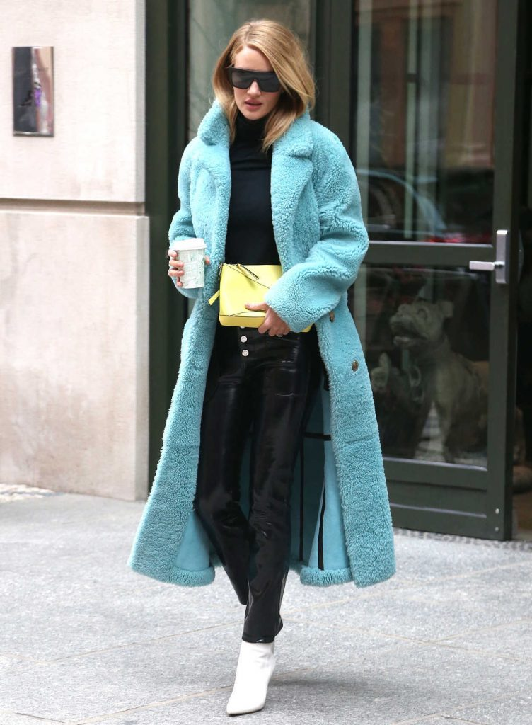 Rosie Huntington-Whiteley Wears a Burberry Coat Out in New York City 02/09/2018-2