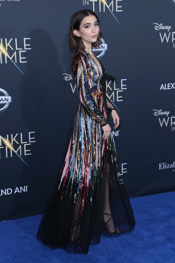 Rowan Blanchard at A Wrinkle in Time Premiere in Los Angeles 02/26/2018-3