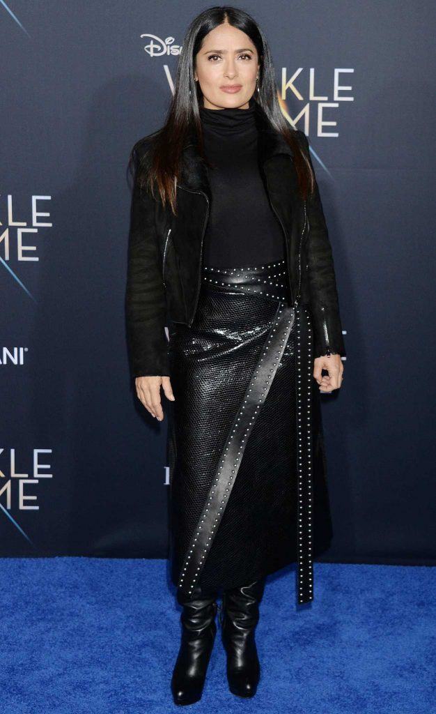 Salma Hayek at A Wrinkle in Time Premiere in Los Angeles 02/26/2018-1