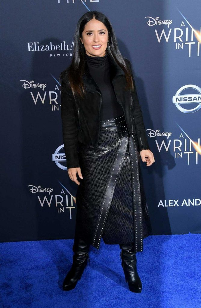 Salma Hayek at A Wrinkle in Time Premiere in Los Angeles 02/26/2018-2