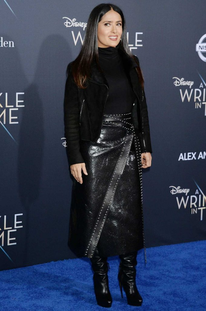Salma Hayek at A Wrinkle in Time Premiere in Los Angeles 02/26/2018-3