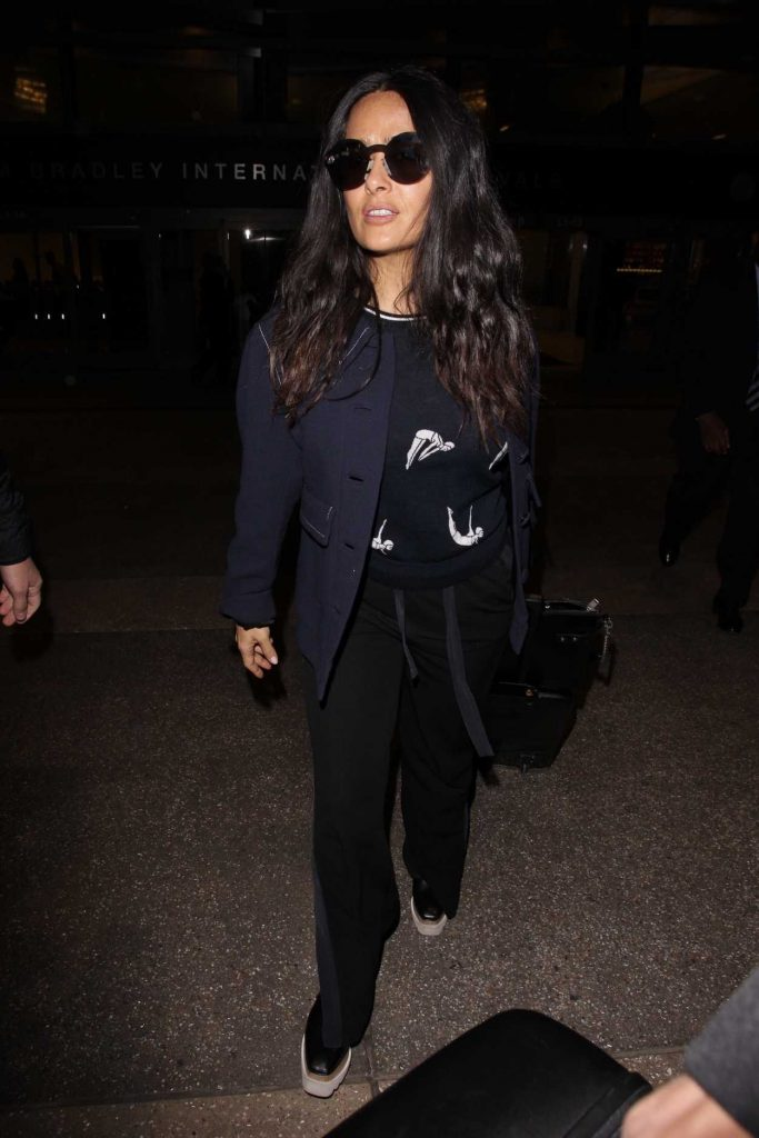 Salma Hayek at LAX Airport in Los Angeles 02/19/2018-1