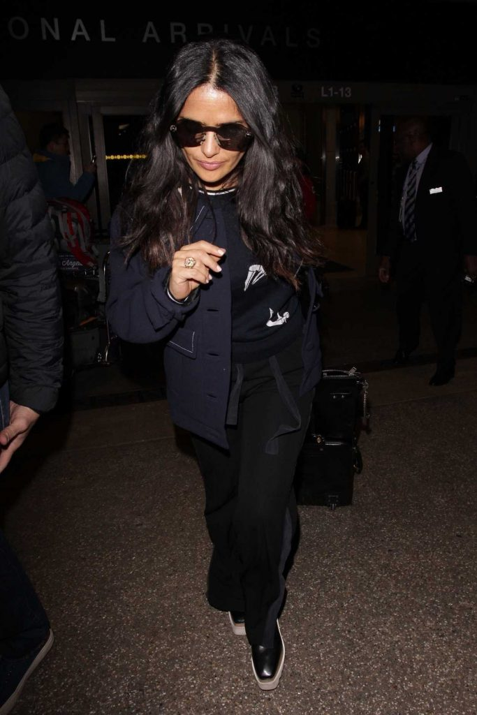 Salma Hayek at LAX Airport in Los Angeles 02/19/2018-2