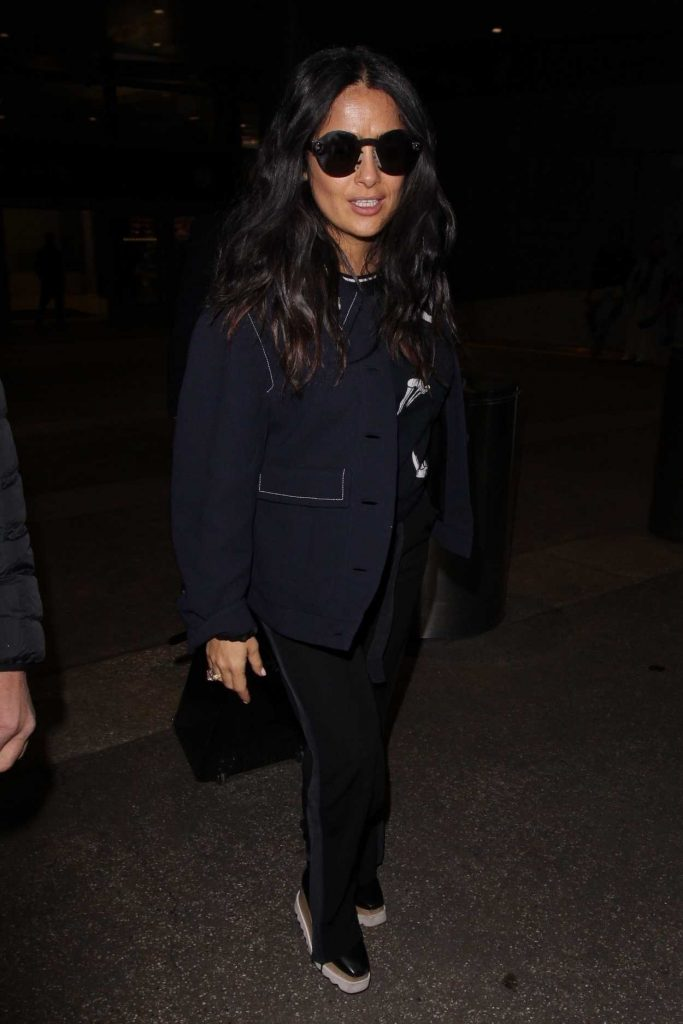 Salma Hayek at LAX Airport in Los Angeles 02/19/2018-3