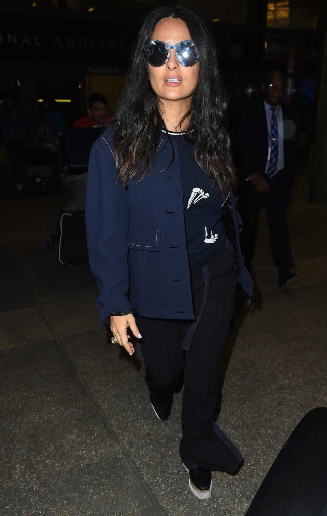 Salma Hayek at LAX Airport in Los Angeles 02/19/2018-4