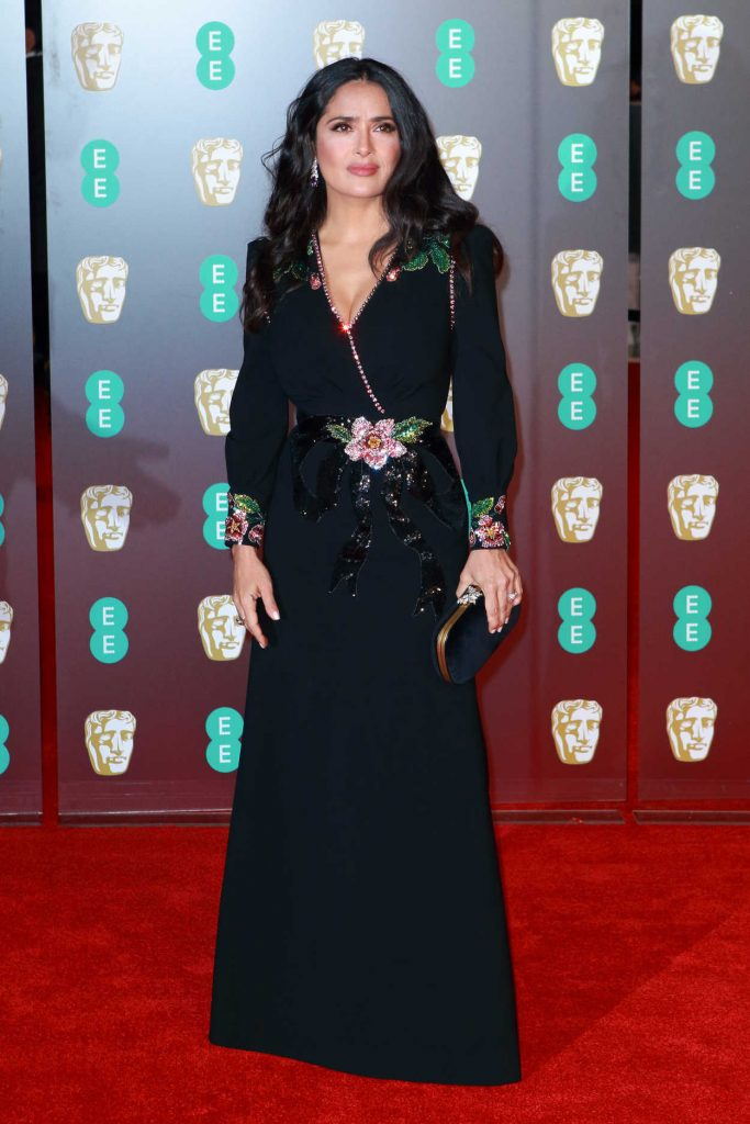 Salma Hayek at the 71st British Academy Film Awards at Royal Albert Hall in London 02/18/2018-1