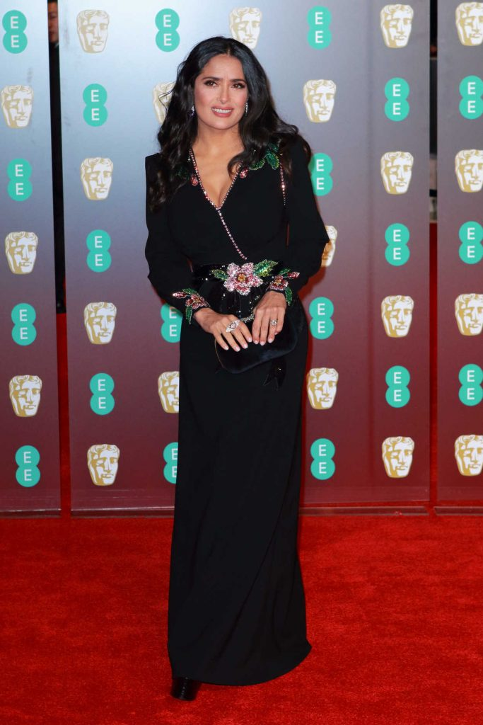 Salma Hayek at the 71st British Academy Film Awards at Royal Albert Hall in London 02/18/2018-2