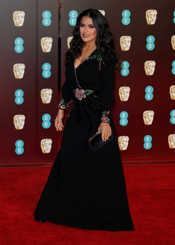 Salma Hayek at the 71st British Academy Film Awards at Royal Albert Hall in London 02/18/2018-3