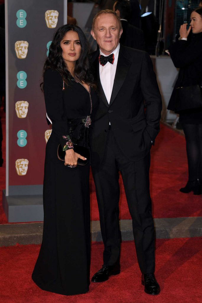 Salma Hayek at the 71st British Academy Film Awards at Royal Albert Hall in London 02/18/2018-4