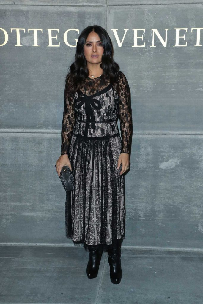 Salma Hayek at the Bottega Veneta Fashion Show During New York Fashion Week in New York City 02/09/2018-1