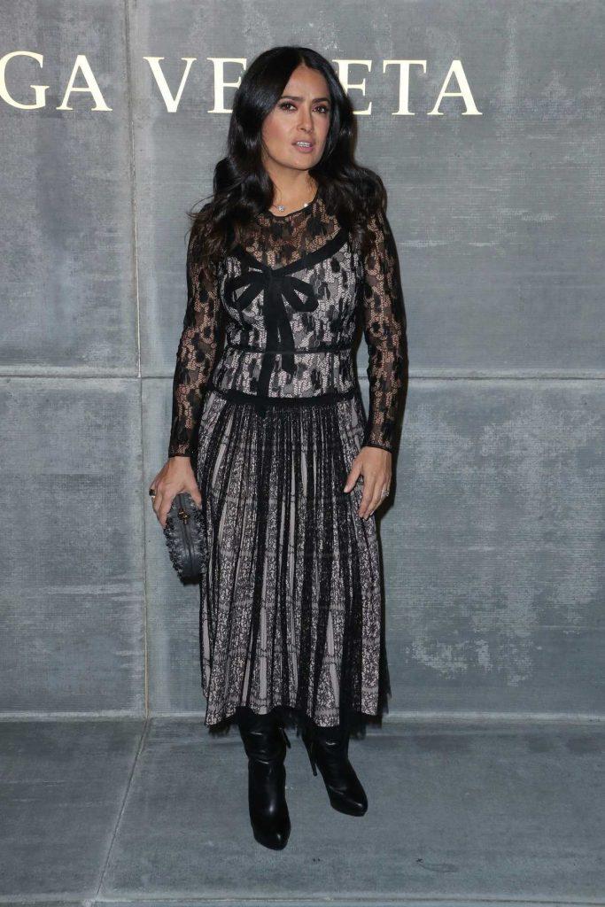 Salma Hayek at the Bottega Veneta Fashion Show During New York Fashion Week in New York City 02/09/2018-2