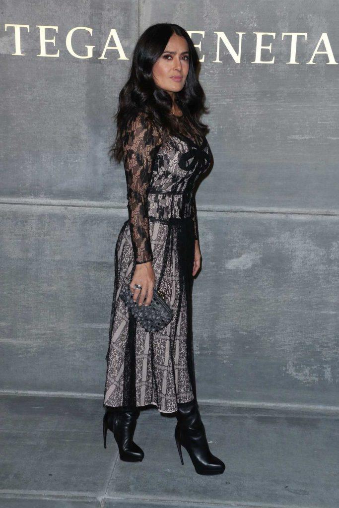 Salma Hayek at the Bottega Veneta Fashion Show During New York Fashion Week in New York City 02/09/2018-3