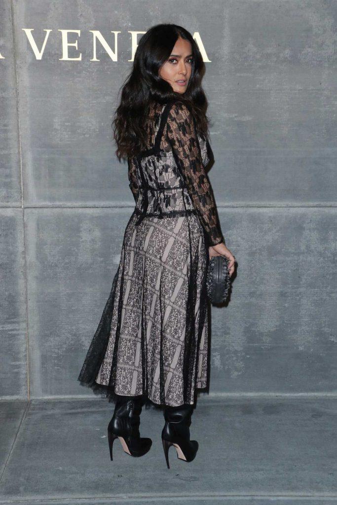 Salma Hayek at the Bottega Veneta Fashion Show During New York Fashion Week in New York City 02/09/2018-4