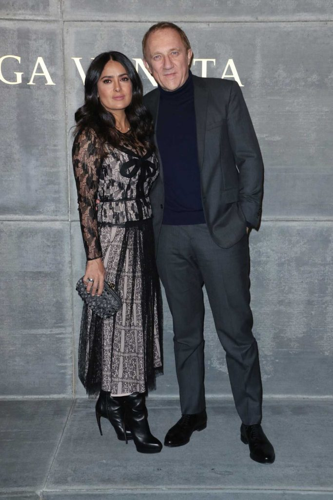 Salma Hayek at the Bottega Veneta Fashion Show During New York Fashion Week in New York City 02/09/2018-5