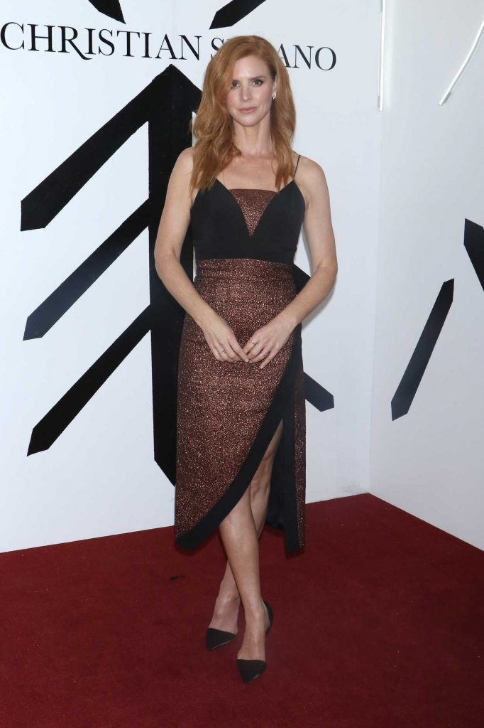 Sarah Rafferty at the Christian Siriano Fashion Show During New York Fashion Week in New York City 02/10/2018-1