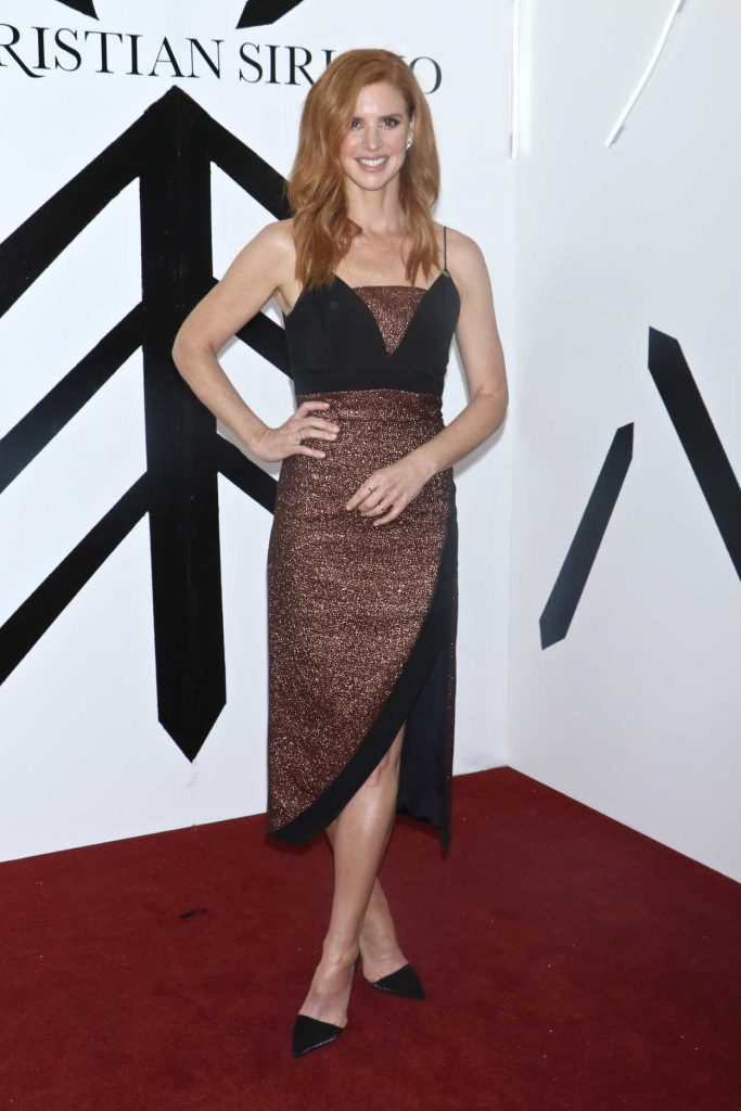 Sarah Rafferty at the Christian Siriano Fashion Show During New York Fashion Week in New York City 02/10/2018-2