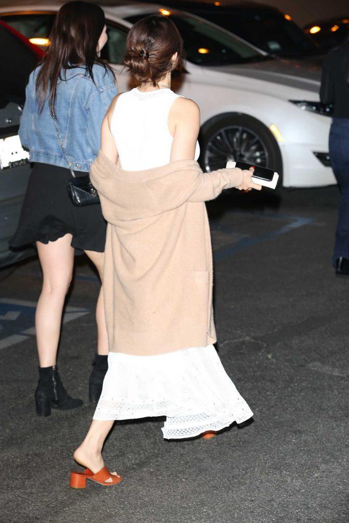 Selena Gomez Wears a White Dress Out in LA 02/09/2018-5