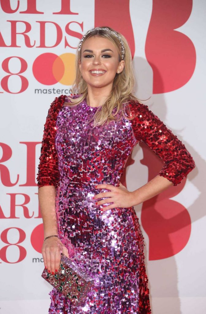 Tallia Storm Attends the 2018 Brit Awards at the O2 Arena in London 02/21/2018-3