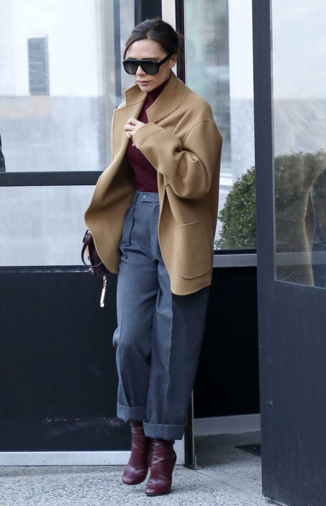 Victoria Beckham Leaves Her Hotel in New York City 02/08/2018-1