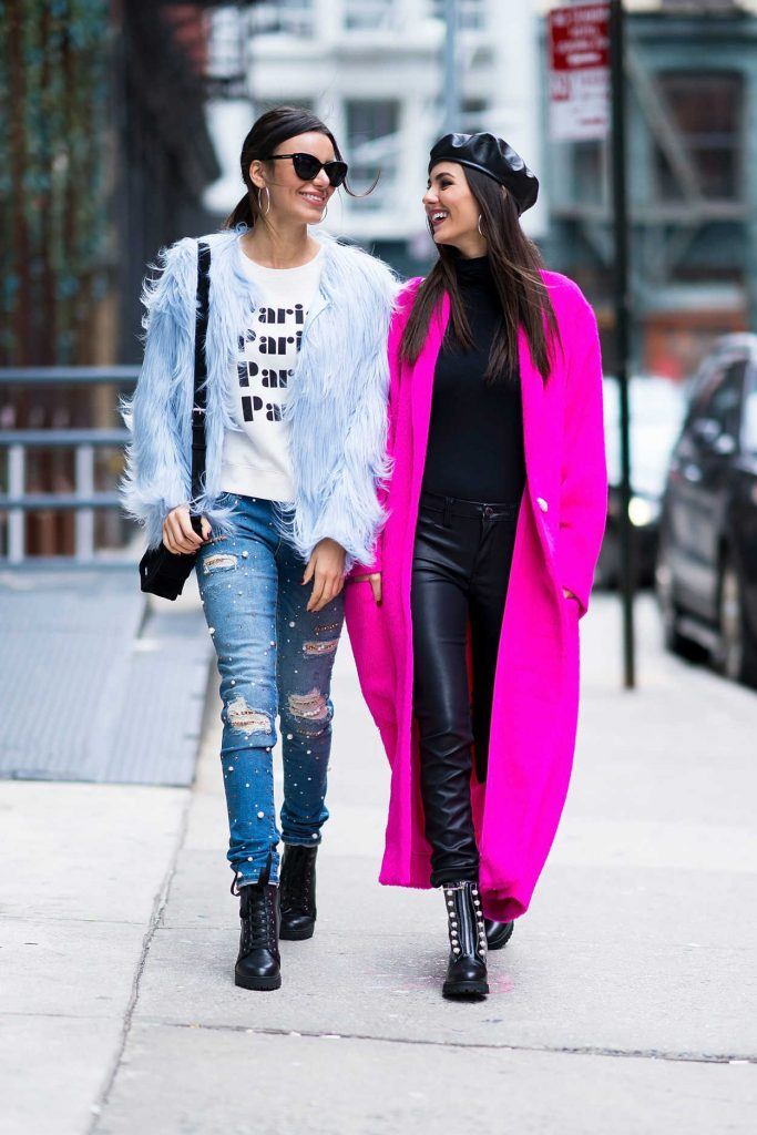 Victoria Justice Wears a Lilac Coat Out in NYC 02/12/2018-3