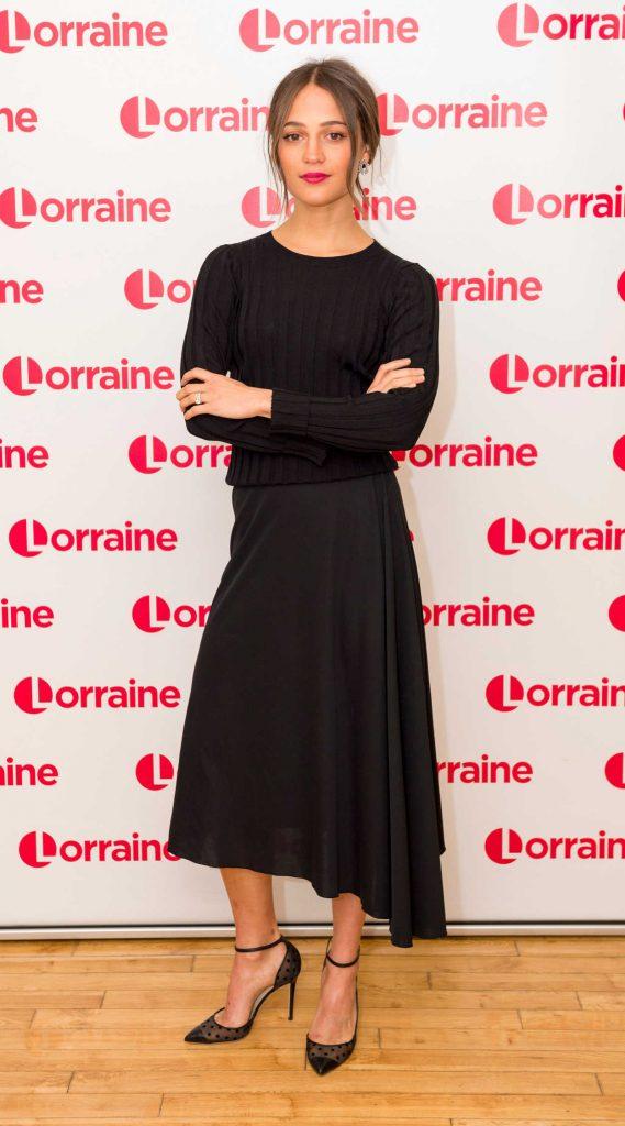 Alicia Vikander at Lorraine TV Show in London 03/06/2018-1