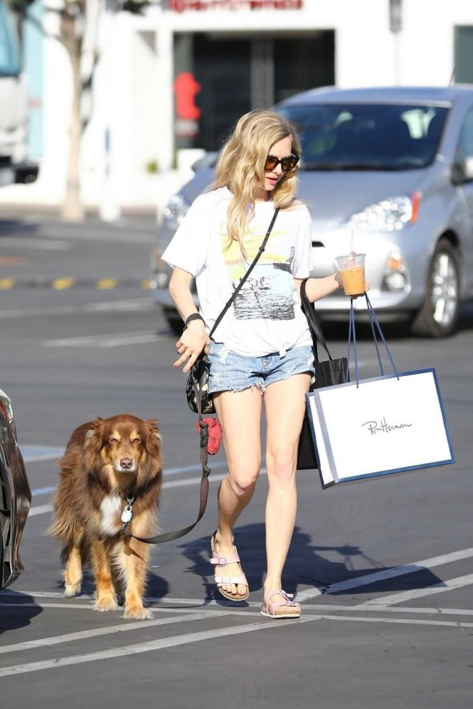 Amanda Seyfried Walks Her Dog in West Hollywood 03/08/2018-4