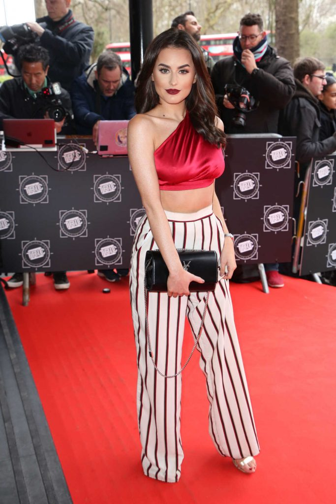 Amber Davies Attends 2018 TRIC Awards in London 03/13/2018-1
